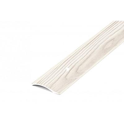 Порог В4-41мм алюминиевый Дуб беленый №087, 0,9м скрытый крепеж