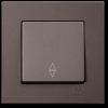 Выключатель 1-клавишный проходной без рамки антрацит 01403500-150107
