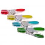 Набор прищепок VETTA 12 шт, пластик, с силиконовыми держателями, Овал  4 цвета, D0301*ВЗ