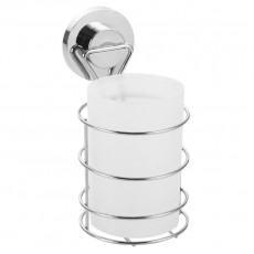"""Стакан для ванной одинарный на присоске пластиковый FORA """"ATLANT"""" арт.A044"""