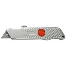Нож, 18 мм, выдвижное трапециевидное лезвие, металлический корпус// Matrix