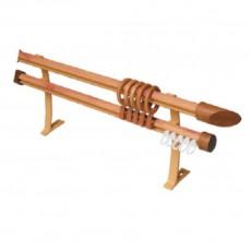 Карниз БК-202 Декор с деревянным наконечником 1,5м сосна золотая