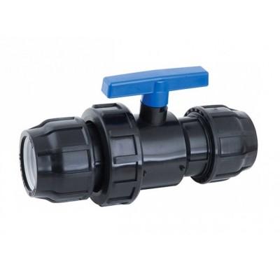 Кран шаровый компрессионный 32х32 для ПЭ труб