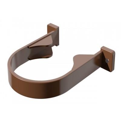 Хомут трубы коричневый ПВХ