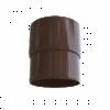 Муфта трубы коричневая ПВХ