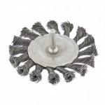 Щетка для дрели, 100 мм, плоская со шпилькой Сибртех 74432