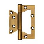 Петля накладная Apecs 100*75*2,5-B2-Steel-AB толщина карты 2,5мм бронза