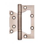 Петля накладная Apecs 100*75*2,5-B2-Steel-NIS толщина карты 2,5мм матовый никель
