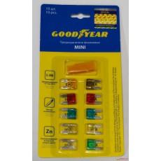 "Предохранители флажковые ""Goodyear"" Mini (набор 10шт + экстрактор)"