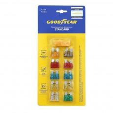 """Предохранители флажковые """"Goodyear"""" Standard (набор 10шт + экстрактор)"""