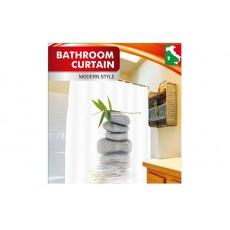 """Шторка для ванной """"Бамбук на камне"""" РН55"""
