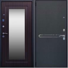 Дверь металлическая ЛИНИЯ эко венге, зеркало 860х2050 левая