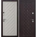 Дверь металлическая Ромбы Люкс_3К 860*2050 левая