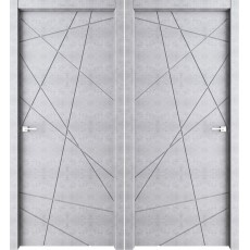 Дверь межкомнатная Паутинка бетон светлый 800*2000