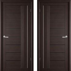Дверное полотно экошпон Катрин 2 Палермо Венге ПО-900