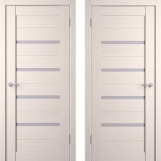 Дверное полотно экошпон Анкона 4 Кремовая лиственница ПО-900
