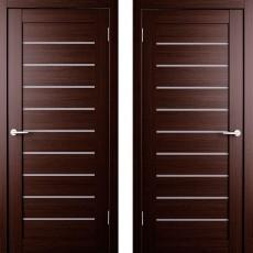 Дверное полотно экошпон Анкона 9 Венге ПО-900