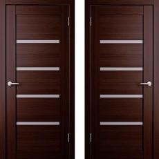 Дверное полотно экошпон Анкона 4 Венге ПО-900