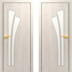 Дверное полотно остекленное С-07 Дуб беленый ПО-800