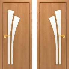 Дверное полотно остекленное С-07 Миланский орех ПО-800