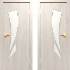 Дверное полотно остекленное С-02 Дуб беленый ПО-900