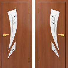 Дверное полотно С-02 Итальянский орех ПОФ-900