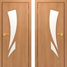 Дверное полотно остекленное С-02 Миланский орех ПО-900