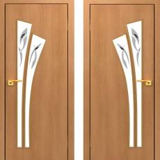 Дверное полотно остекленное С-07 Миланский орех ПОФ-900