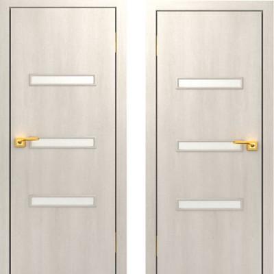 Дверное полотно остекленное С-36 Дуб беленый ПО-800
