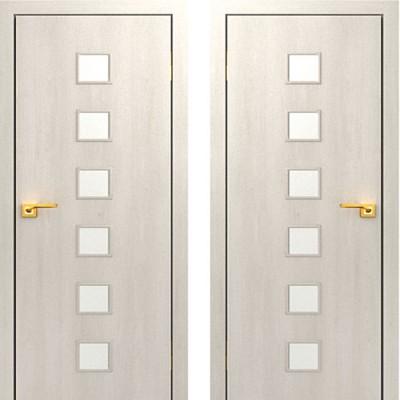 Дверное полотно остекленное С-09 Дуб беленый ПО-900