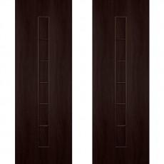 Дверное полотно С-12 венге ПГ-800 (Лесенка)