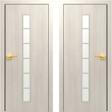 Дверное полотно С-12 дуб беленый ПО-600 (Лесенка)