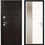 Дверь металлическая Дипломат Роял Вуд черный/Роял Вуд белый 860*2050 правая