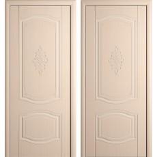 Дверь шпонированная Мария беленый дуб ПГ-600
