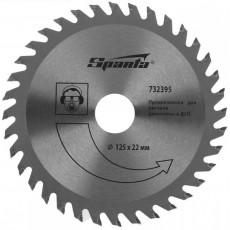 Пильный диск по дереву, 125 х 22мм, 36 зубьев// SPARTA 732395