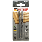Пилки для лобзиков Ritter по дереву Т101B CrV 100/75мм, шаг 2,5 мм 10TPi (2 шт. в упаковке)