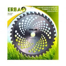 Нож металлический для триммера ERBA 36 зубов, 255*2,0*25.4мм