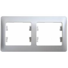 Рамка 2-постовая Glossa горизонтальная  перламутр SchE GSL000602