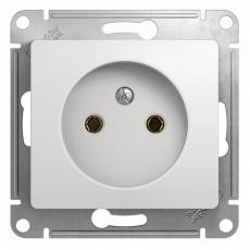 Розетка без заземляющего контакта Schneider Electric Glossa GSL000141 (16 A, под рамку, скрытая установка, белая)