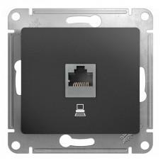 Розетка компьютерная Schneider Electric Glossa GSL001381K (RJ45, под рамку, скрытая установка, графит)