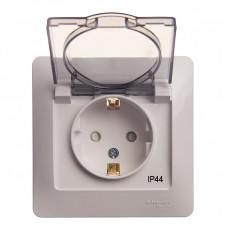 Розетка с заземляющим контактом Schneider Electric Glossa GSL000148 (IP44, белая)