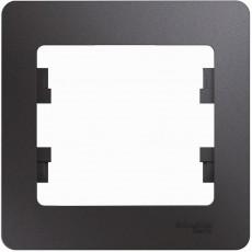 Рамка 1-постовая Schneider Electric Glossa GSL001301 (графит)