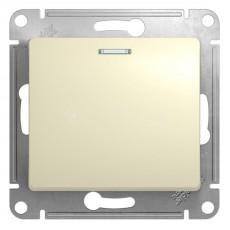 Механизм выключателя 1-клавишный СП GLOSSA 10А IP20 10AX с подсветкой бежевый SchE GSL0002131