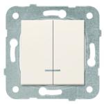 Выключатель 2-клавишный с подсветкой крем (узел) WKTT00102BG-BY Panasonic