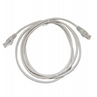Патч-корд народный U/UTP Cat 5e 4PR 24AWG PVC, литой 1 м, серый SQ0115-0002