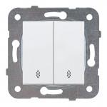 Выключатель 2-кл проходной белый WKTT00112WH-BY Panasonic