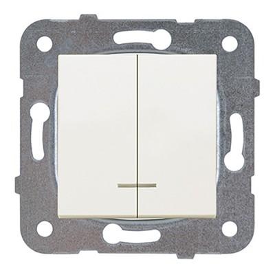 Выключатель 2-кл проходной кремовый WKTT00112BG-BY Panasonic