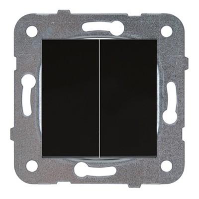 Выключатель 2-кл проходной черный WKTT00112DG-BY Panasonic