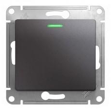 Выключатель одноклавишный Schneider Electric Glossa GSL001313 (с подсветкой, графит)