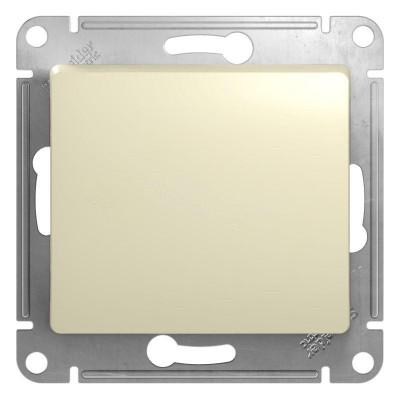 Механизм выключателя 1-клавишный СП GLOSSA 10А IP20 10AX бежевый SchE GSL000211